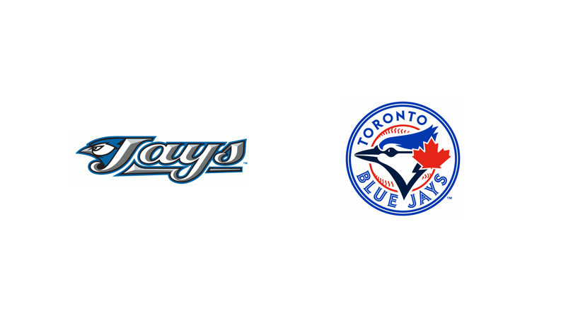 Toronto Blue Jays get rid of their gradients and show their Canadian side.