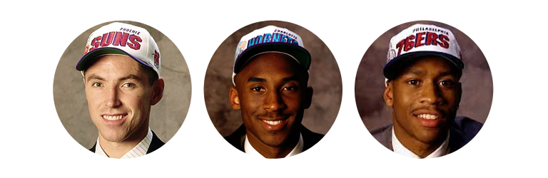 Steve Nash, Kobe Bryant & Allen Iverson