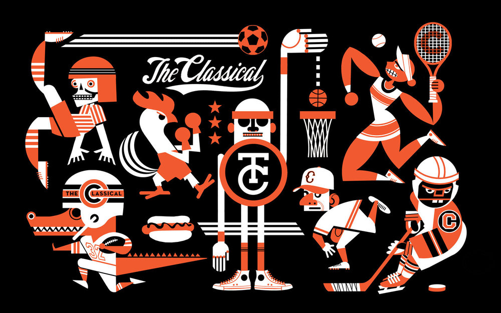 A desktop wallpaper illustration for   The Classical  .