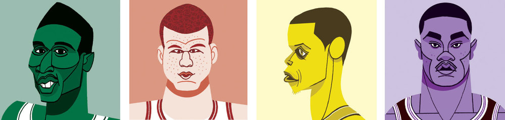 "Illustrations for   GQ  's ""Guide to the New NBA Golden Age."""