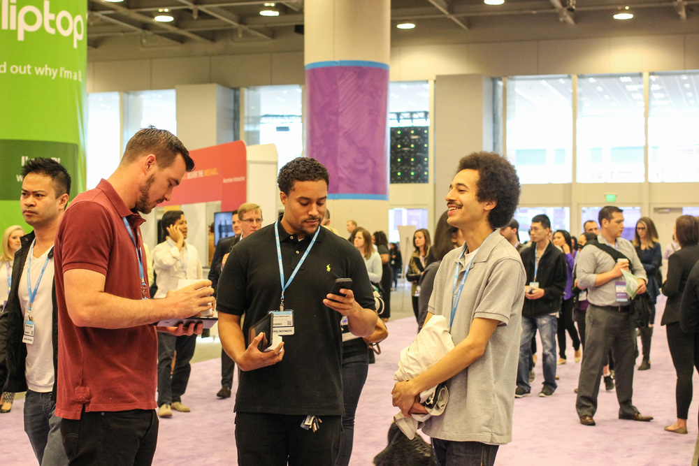 Our recruiters exchanging laughs during our time in the Marketing Convention. #leaders