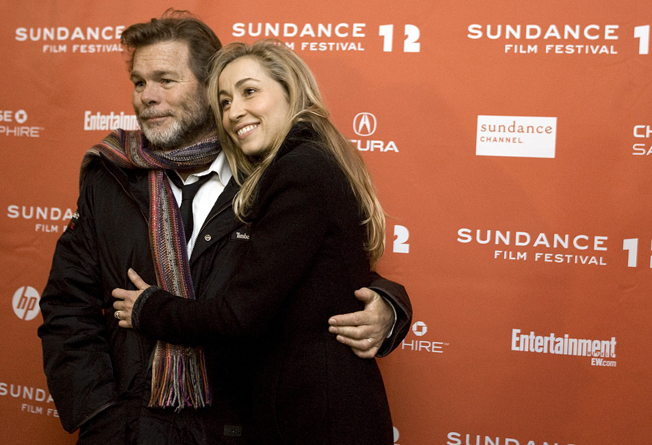 Kieran and wife, actress Felicity Price in Sundance