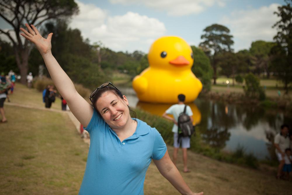 Lisey REALLY loves ducks!