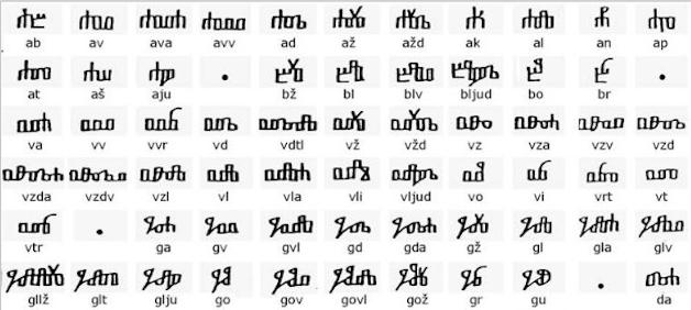 Glagolithic quick-script
