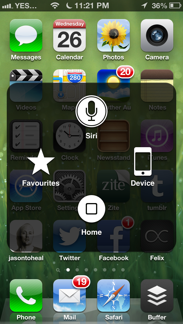 Here's the best tip ever for when your home button is stuffed on your iPhone (until you can get around to fixing it). Go to settings, general, accessibility, and then turn on assistive touch. This will allow an icon to appear in the top left corner of the screen that, when pressed, expands and gives you the ability to activate the home button on the screen. Very clever. A nice temporary solution until that $3 button and pentalobe screw driver arrive from eBay.