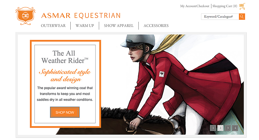 Jacket illustration on Asmar Equestrian's website.