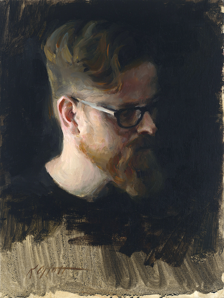 "Jason, 12""x9"", oil on canvas, Jack Meier Gallery"