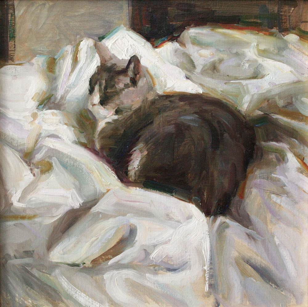 "Lulu, 14""x14"", oil on canvas"