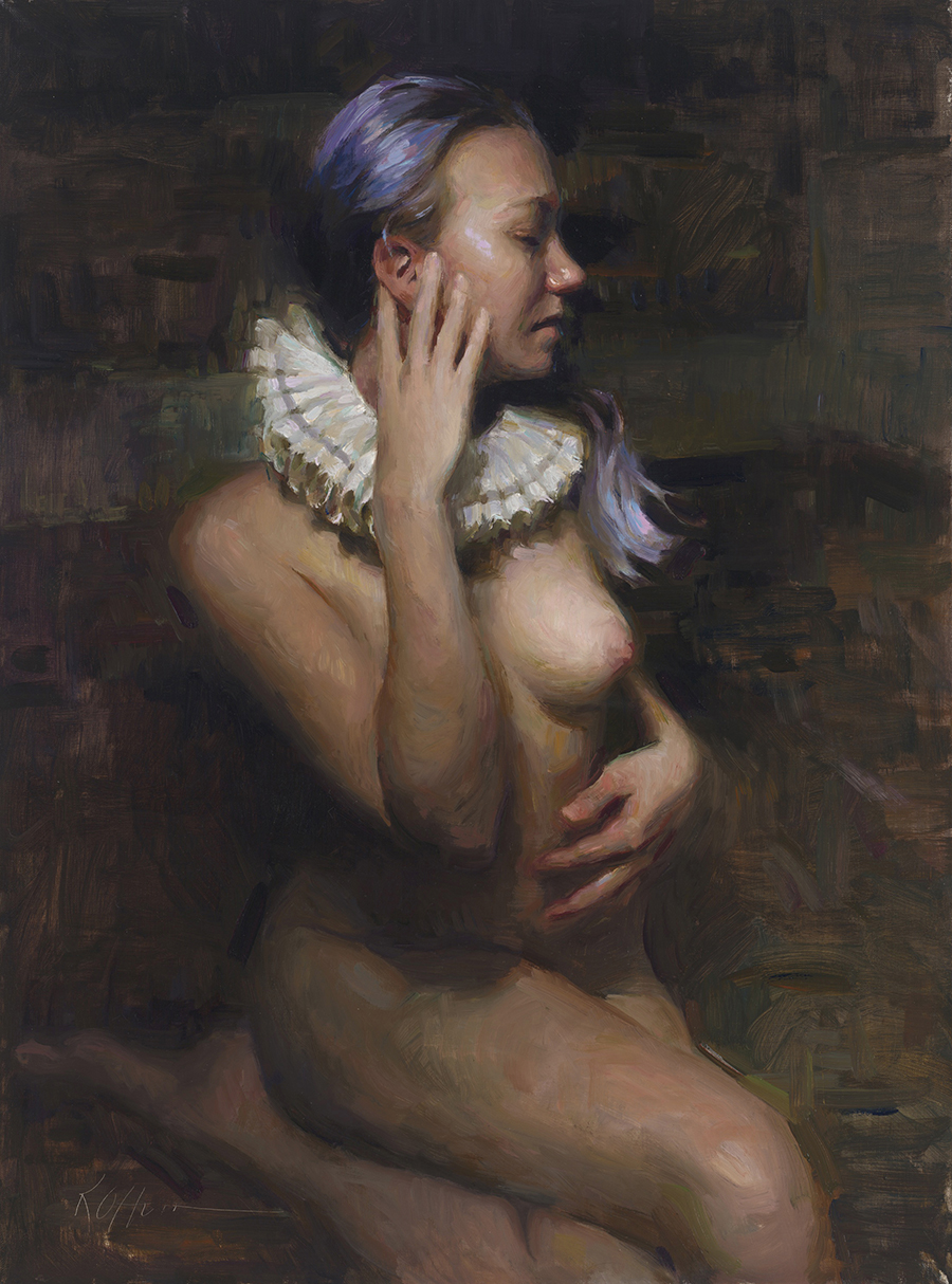 "Erin, 24""x18"", oil on canvas, Abend Gallery"