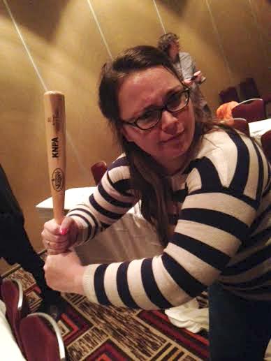 """My """"trophy"""" was a mini Louisville Slugger!"""