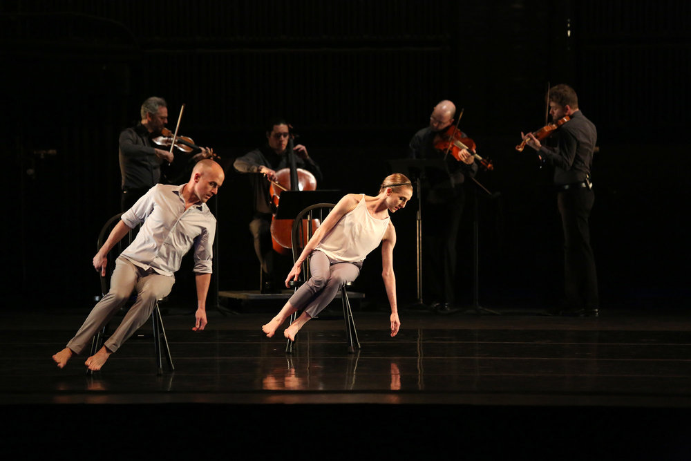 In 2016-17, The Kentucky Center co-commissioned A Some Of A Thousand Words with producer Joyce Theatre, NYC with creators/performers Wendy Whelan (Louisville native, NYCB ballerina), Brian Brooks (first recipient Artistic Director at the Harris Theater, Chicago) and Brooklyn Rider (quartet based in NYC). The project consisted of mounting new work in the Brown Theater and Todd Hall on May 2-9, 2016 then made its Louisville premiere on Wednesday, March 8, 2017 at the Brown Theatre. The visit beyond the performance, also included Whelan's lecture and Q&A with approximately 200 middle and high schoolers at the Brown School, her alma mater; simultaneous master classes by Whelan and Brooks at the Youth Performing Arts School; and a lecture-demonstration by Brooklyn Rider at Newburg M.S. with over 60 string students.