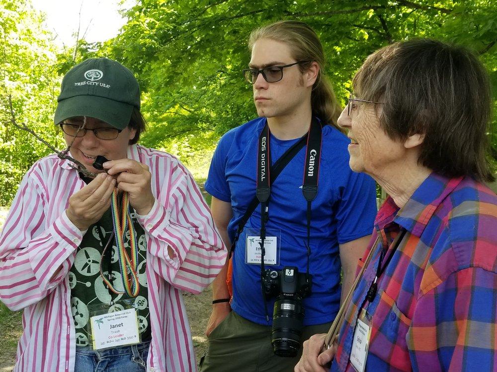 Jordan R (76) Janet Traub Ethan Jacobs Sylvia Taylor with lichens.jpg