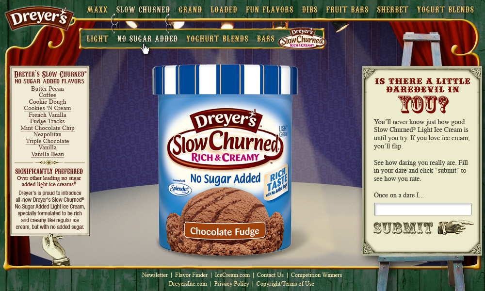 Website: Dreyer's Ice Cream