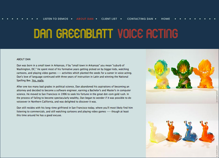 Website: Dan Greenblatt, voice actor