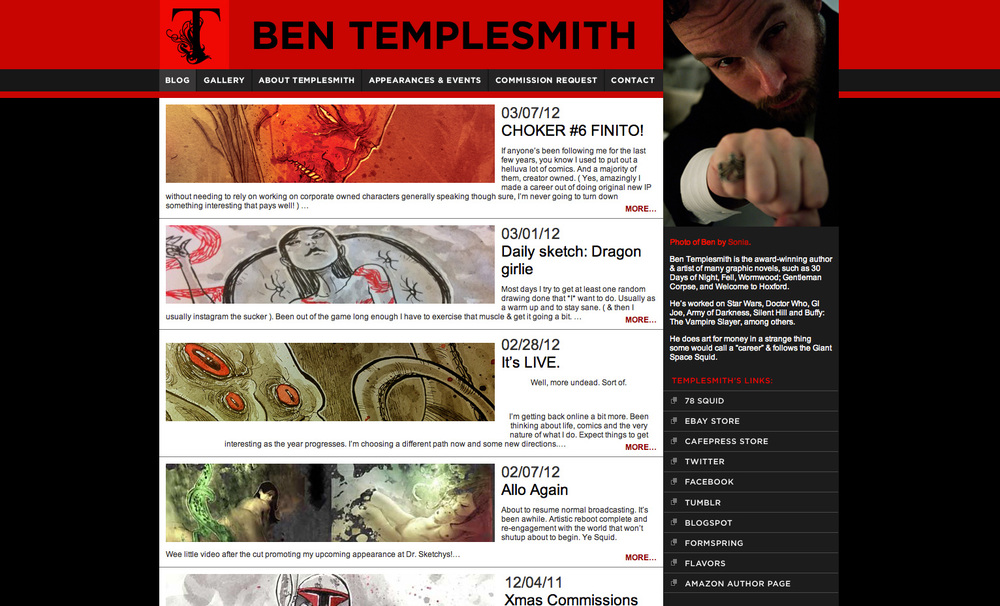Website: Ben Templesmith, artist & author