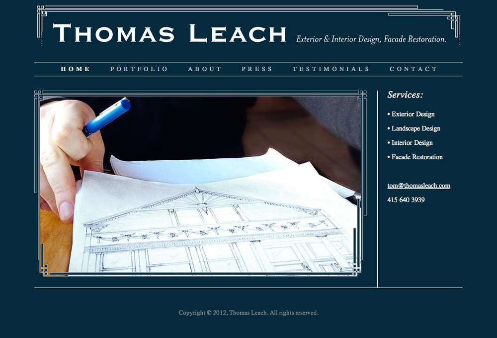 Website: Thomas Leach, Interior & Exterior Designer