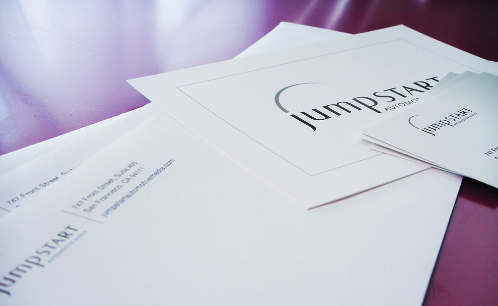 Logo & Identity: Jumpstart Automotive Group (stationery)