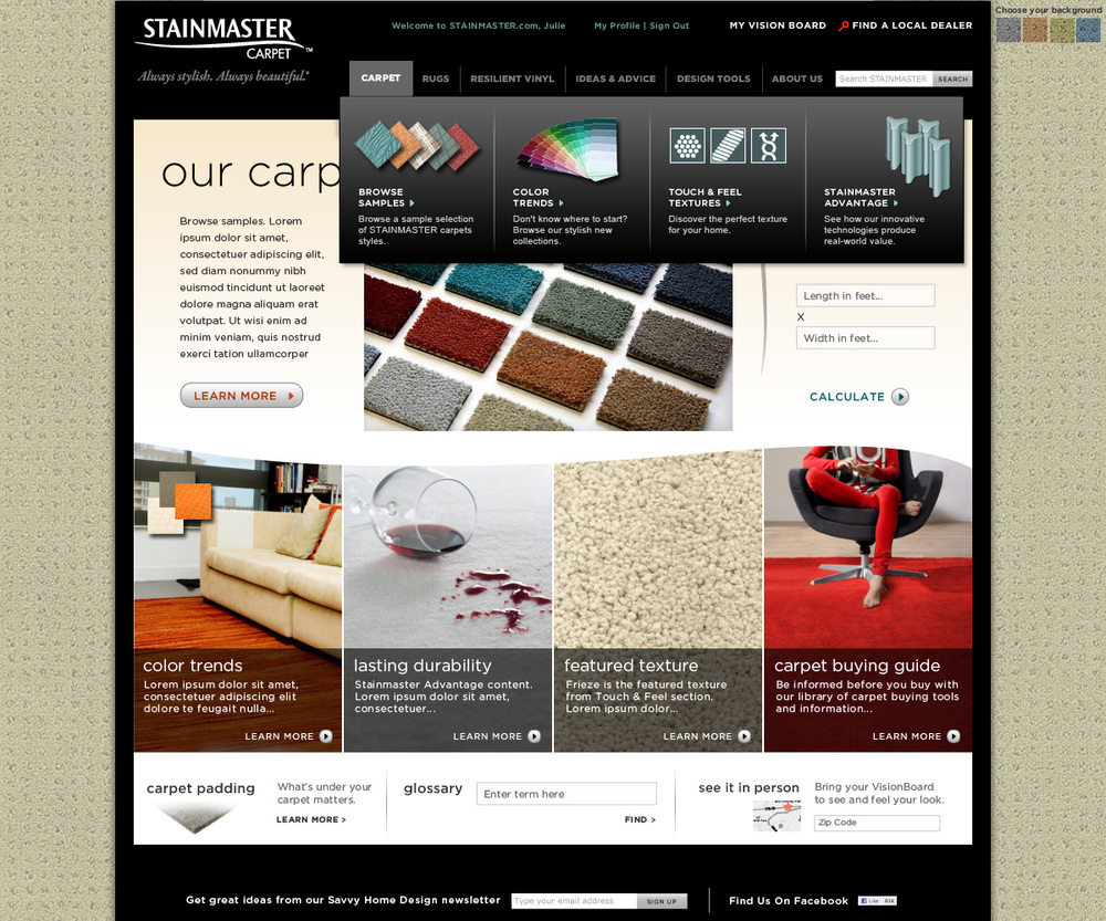 Website: Stainmaster Carpets