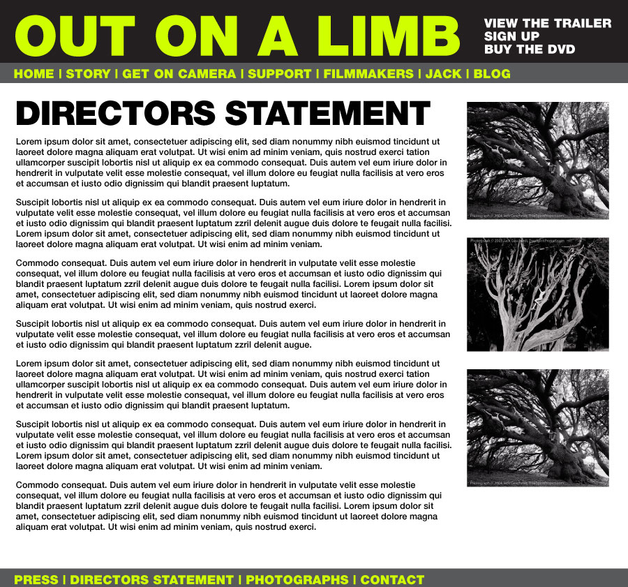 Website: Out on a Limb / Tree Spirit Documentary
