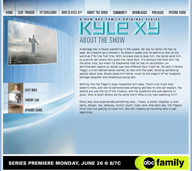 Website: Kyle XY, ABC Family