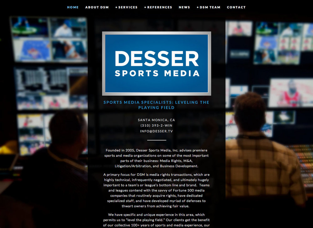 Desser Sports Media - home page