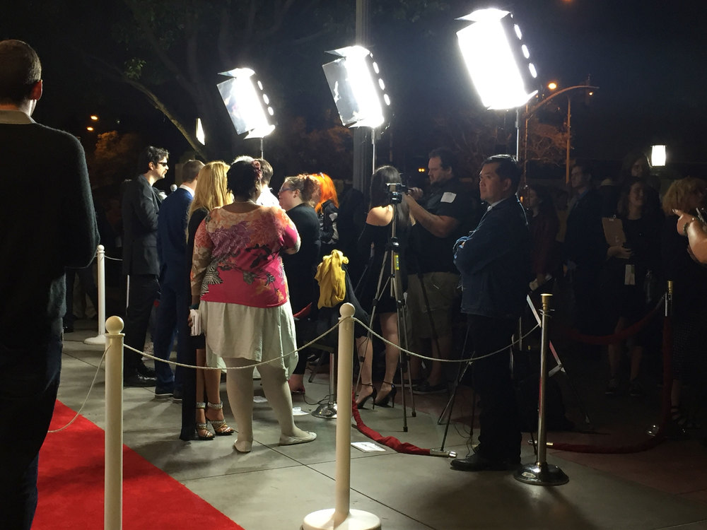 A mob of interviews on the red carpet