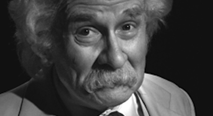 Richard Henzel as Mark Twain
