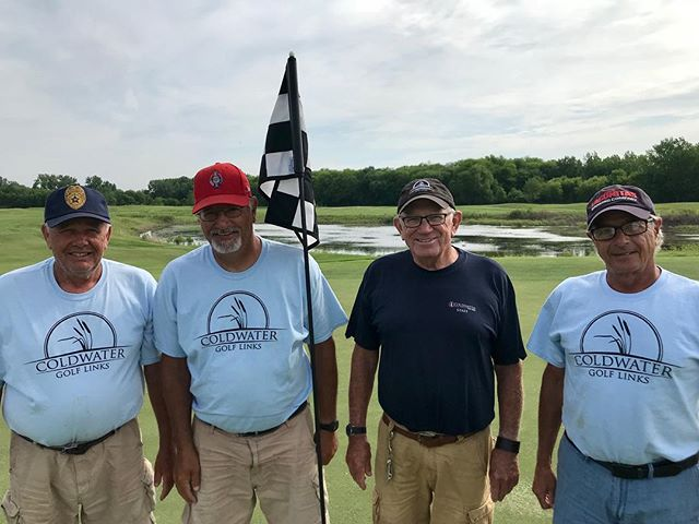With the memorial weekend ahead of us, we wanted to take a minute to celebrate these four excellent men we have had the pleasure of working with here at Coldwater. Without a doubt, they lead the way. From left to right, Dick Vinzant served in the United States Air Force. Chris Hughes served in the United States Air Force. Mike McKinley served in the United States Navy. Kirk Geist served in the United States Army. Gentlemen, thank you so much for your sacrifice, your stories, and your friendship. We are all so proud to work alongside you!