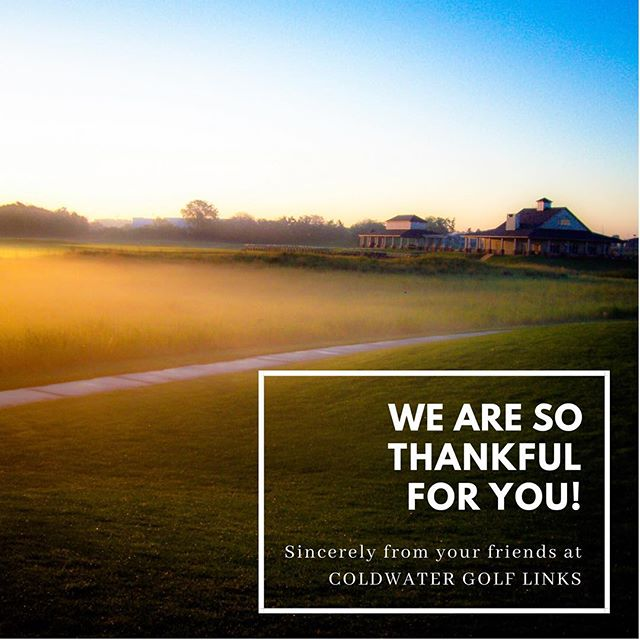 Happy Thanksgiving from all of us here at Coldwater Golf Links!