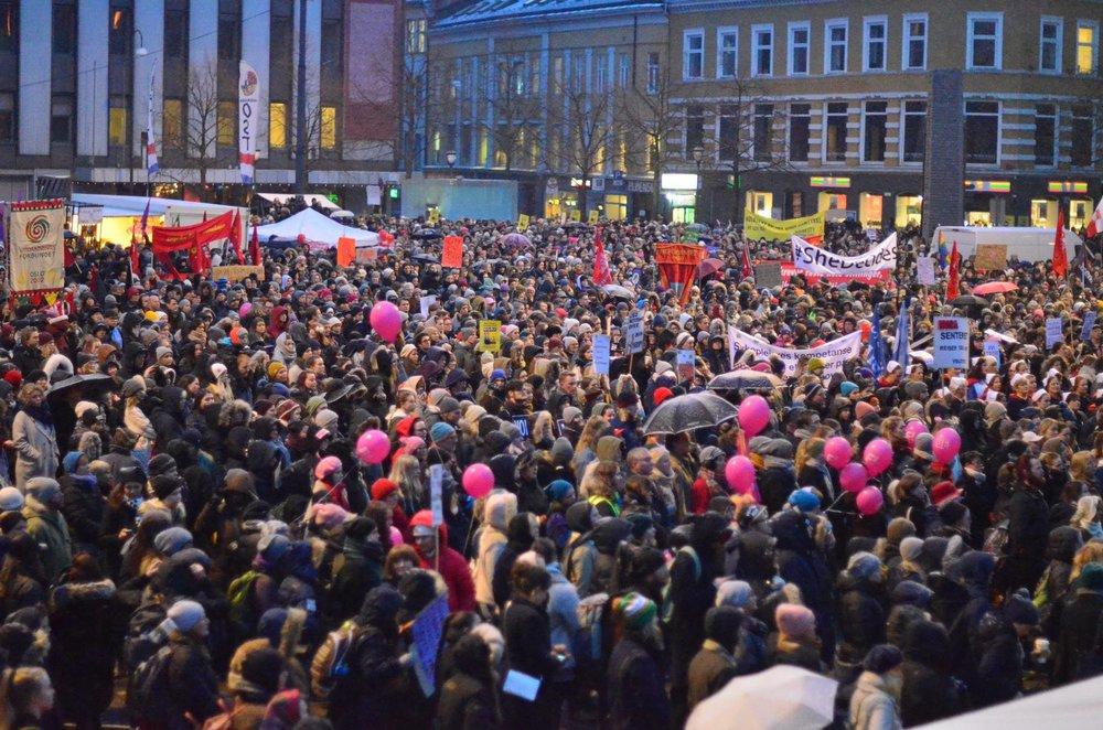 Kvinnedagen i 2017. Foto: Jonas Bertelsen Enge.