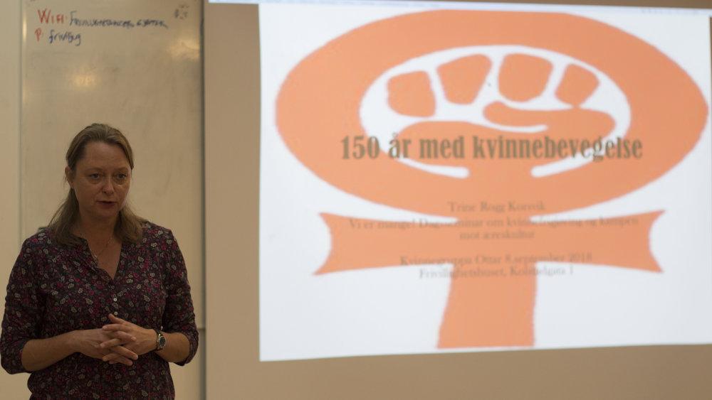 "Trine Rogg Korsvik på seminaret ""Vi er mange"". Foto: Katarina Storalm"