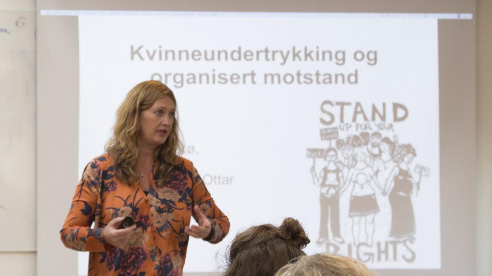 Ane Stø snakket om organisering. Foto: Katarina Storalm