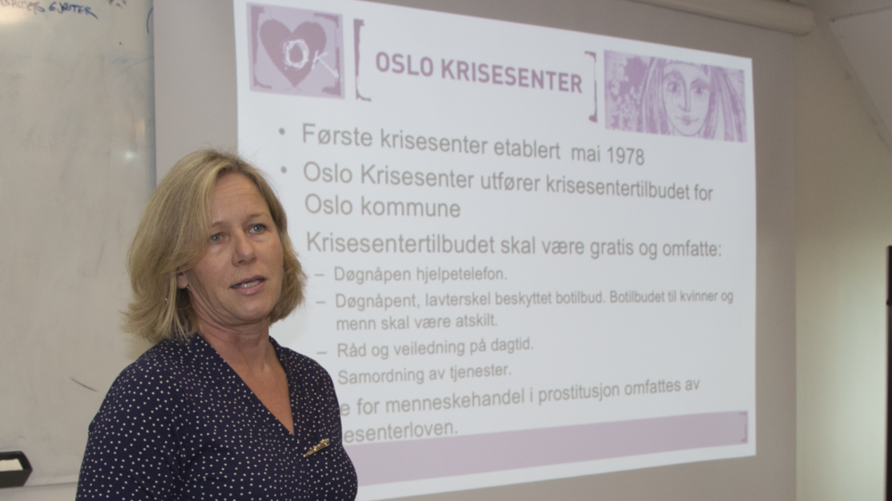 Kristin Berntsen fra Oslo Krisesenter. Foto: Katarina Storalm