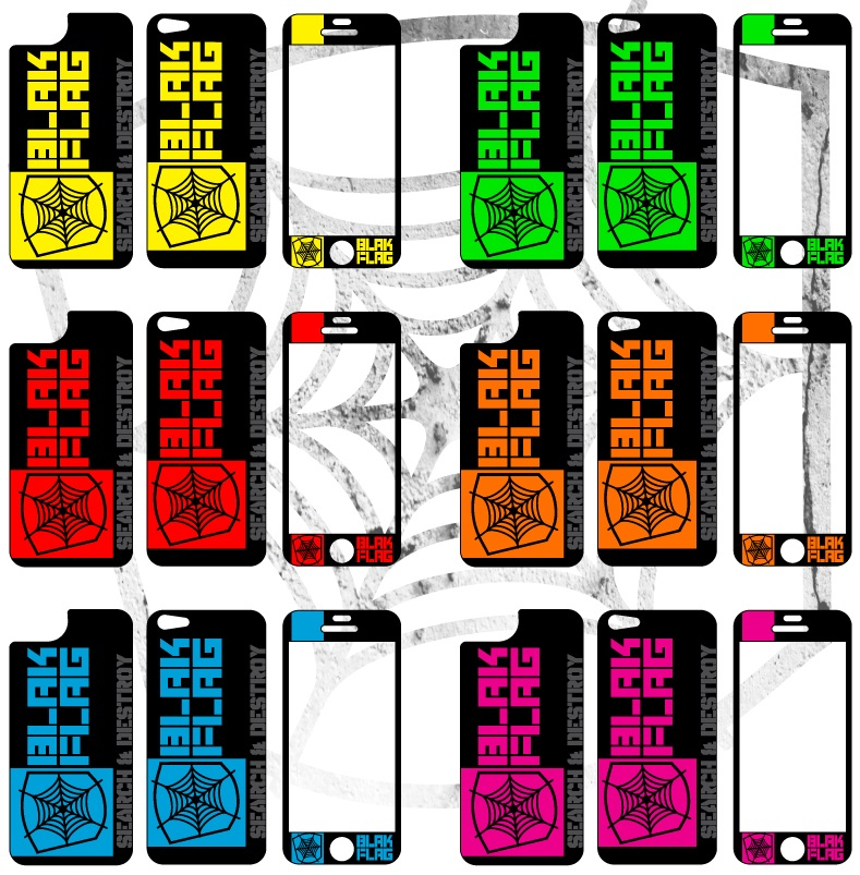 fits the iPhone 4/4s or 5.  1 front piece, 2 backs (1 for case, 1 for no case).