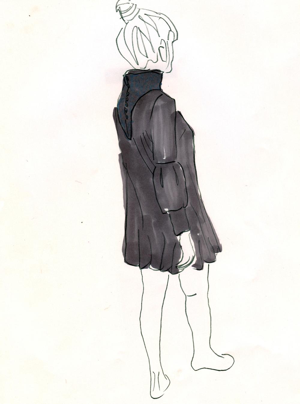 Gray Knit Bubble Dress