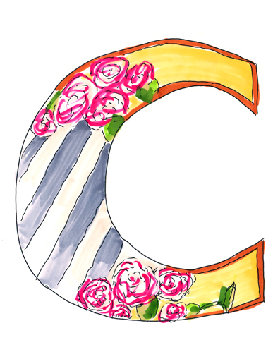 C! For carnations! and carnivals! and classy!