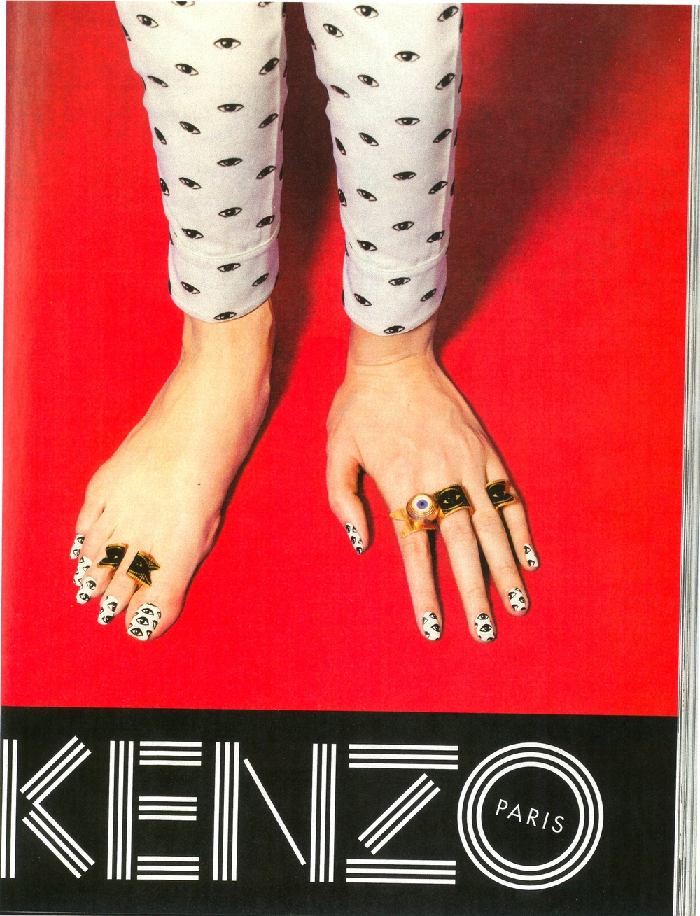 Kenzo has this beautiful eye print, and the new jewelry collection is stunning!