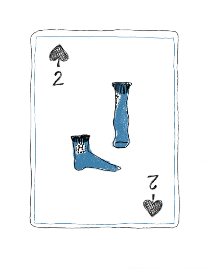 Two of spades....some wintery socks!