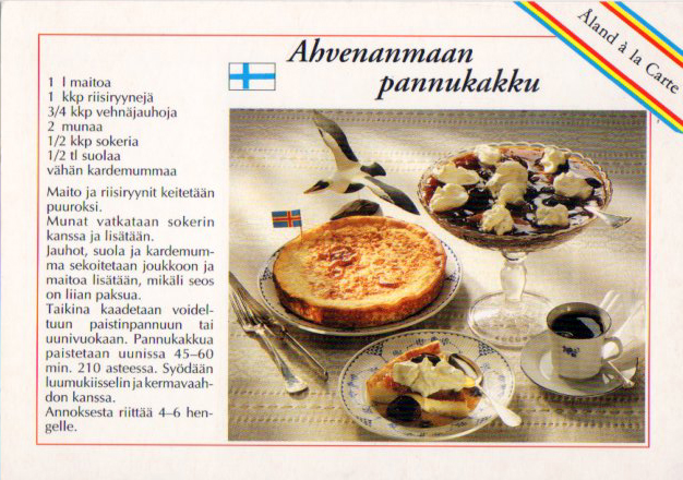 "Aland a la Carte Tama postikortii sisaltyy sarjaan ""Aland a la Carte"" Photo & text Worldwide Copyright ©: Niklas Bildarkiv AB/M.O., Aland, SF. Marketing: Niklas Vykort AB, Aland, SF."