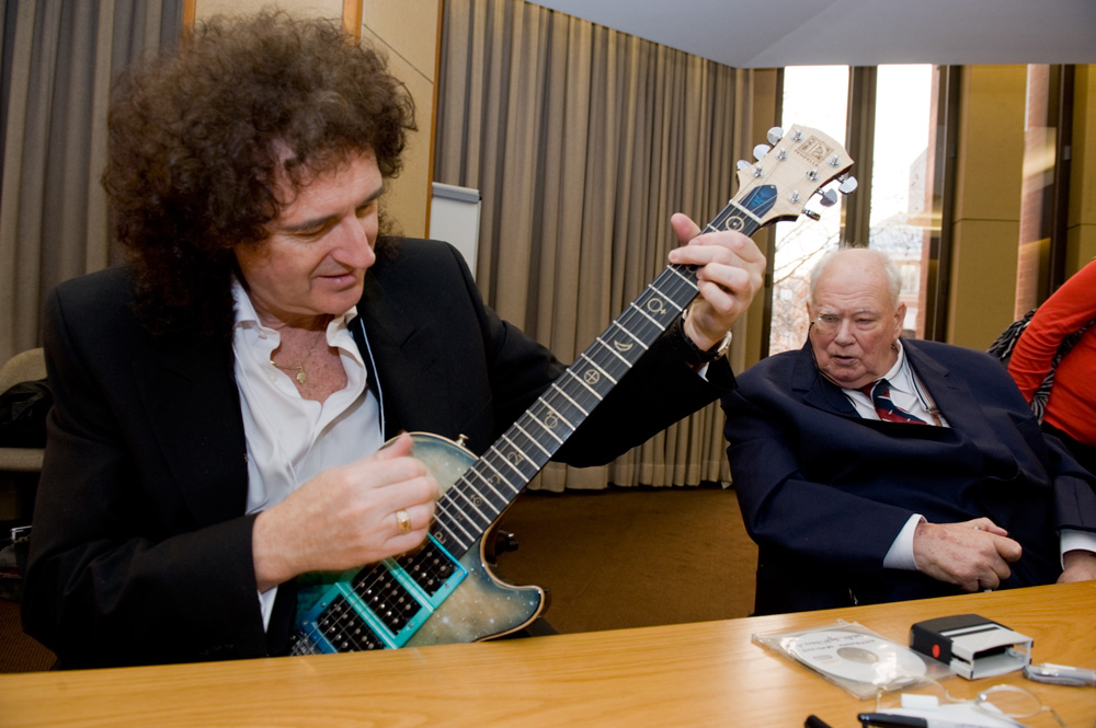 Patrick and Brian May shared a passion for music although their musical styles were very different. Photo: Max Alexander.