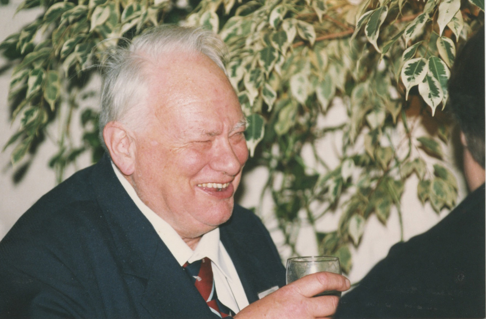 Patrick loved a party! He's pictured here at an AstroFest reception in 1994.