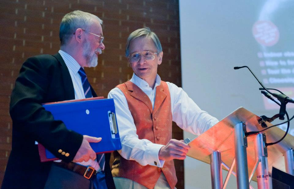 Iain Nicolson (left) and Ian Ridpath form the dynamic duo that chair the European AstroFest conference. Photo: Max Alexander.