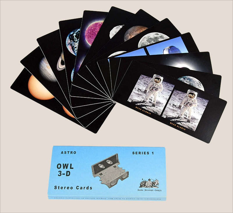 One of the London Stereoscopic Company's 3-D astronomical stereo card sets.