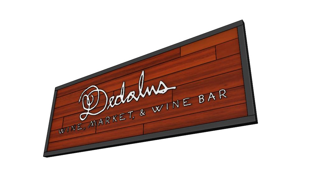 Dedalus Wine Signage