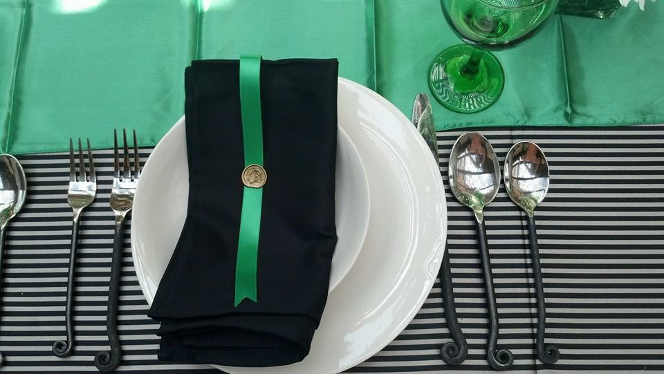 Close up of the place settings. (Photo Credit Amoreena Zauri-Urbek)