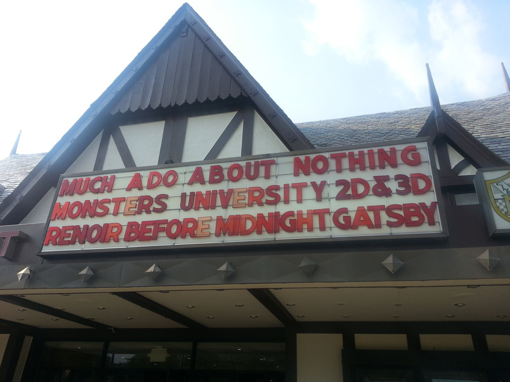 Picture taken outside our local art house Mariemont Theatre in Cincinnati, OH, USA.
