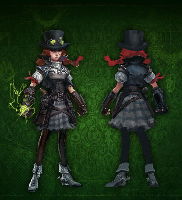 Steampunk Dorothy. An Awesome look, for the great-great-granddaughter of such an iconic character. Nods to the original version, and the movie version, while still maintaining her own character.