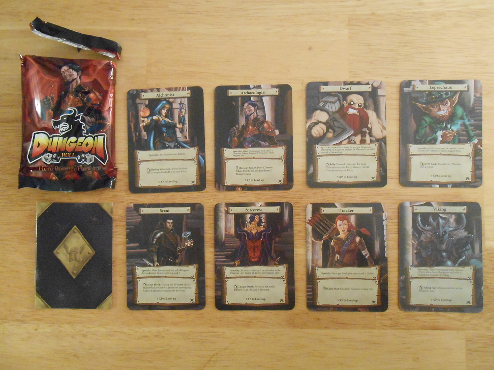 Contents of Hero Booster Pack #1