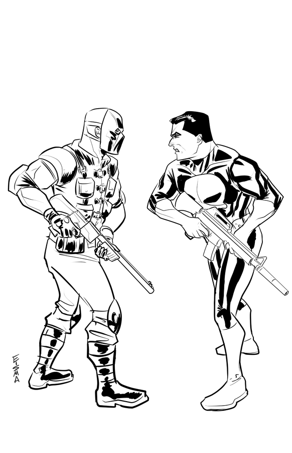 Punisher Owned by Marvel Comics. Warden Owned by Slamfist Media. Art by Joe Eisma