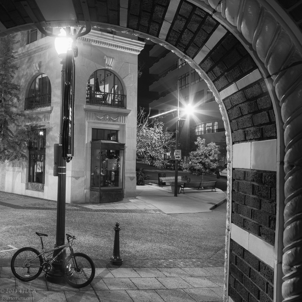Bicycle and Building in Asheville